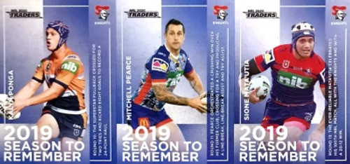 2020 NRL Traders NEWCASTLE KNIGHTS 2019 Season To Remember Cards
