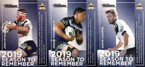 2020 NRL Traders NORTH QUEENSLAND COWBOYS 2019 Season To Remember Cards