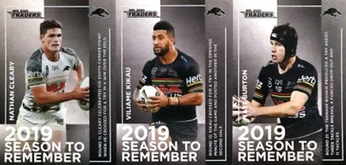 2020 NRL Traders PENRITH PANTHERS 2019 Season To Remember card