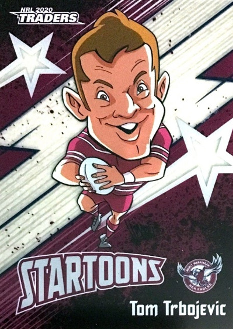 2020 NRL Traders Manly Sea-Eagles Startoons TOM TRBOJEVIC Card