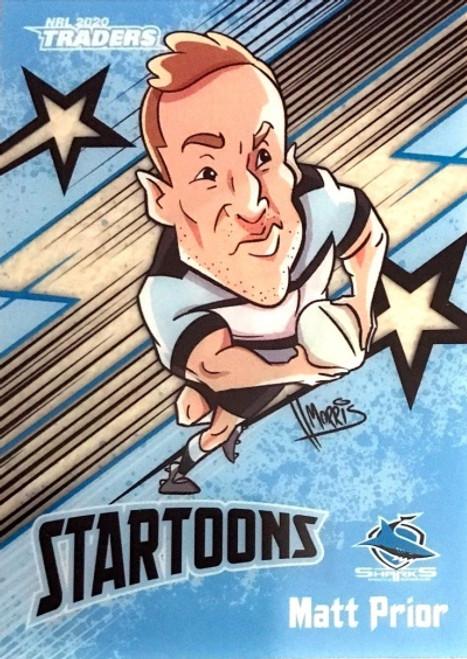 2020 NRL Traders Cronulla Sharks Startoons MATT PRIOR Card