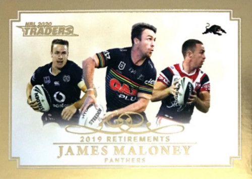 2020 NRL Traders Penrith Panthers JAMES MALONEY 2019 Retirements Card