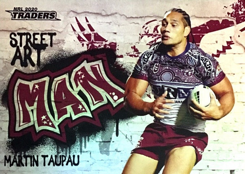 2020 NRL Traders Manly Sea-Eagles SA06/16 MARTIN TAUPAU Street Art Card