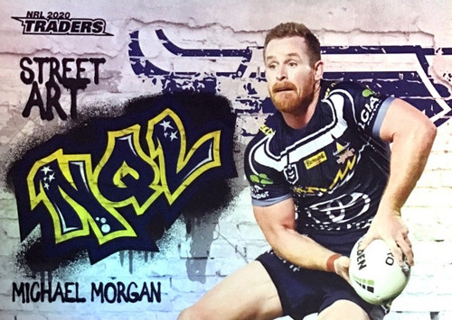 2020 NRL Traders North Queensland Cowboys SA09/16 MICHAEL MORGAN Street Art Card