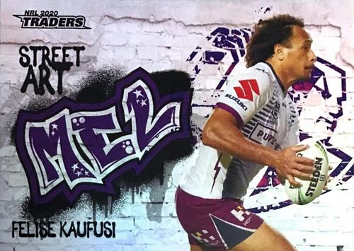 2020 NRL Traders Melbourne Storm SA07/16 FELISE KAUFUSI Street Art Card