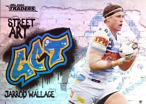 2020 NRL Traders Gold Coast Titans SA05/16 JARROD WALLACE Street Art Card