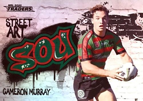 2020 NRL Traders South Sydney Rabbitohs SA12/16 CAMERON MURRAY Street Art Card