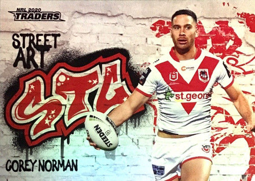 2020 NRL Traders Saint George Dragons SA13/16 COREY NORMAN Street Art Card