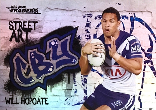2020 NRL Traders Canterbury Bulldogs SA03/16 WILL HOPOATE Street Art Card