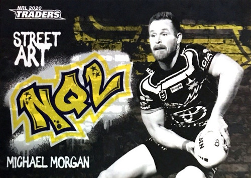 2020 NRL Traders North Queensland Cowboys SABK09/16 MICHAEL MORGAN Street Art Card