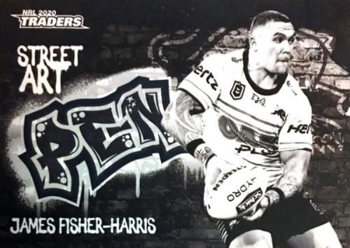 2020 NRL Traders Penrith Panthers SABK11/16 JAMES FISHER-HARRIS Street Art Card