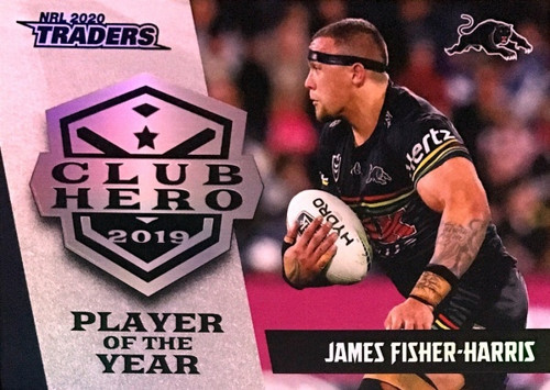 2020 NRL Traders Penrith Panthers Club Hero JAMES FISHER-HARRIS Player of the Year Card