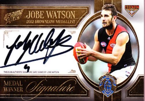 2013 AFL Select Prime Series JOBE WATSON Brownlow Signature Card