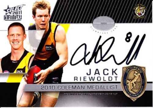 2011 AFL Select Infinty JACK RIEWOLDT Richmond Tigers Coleman Medal Card