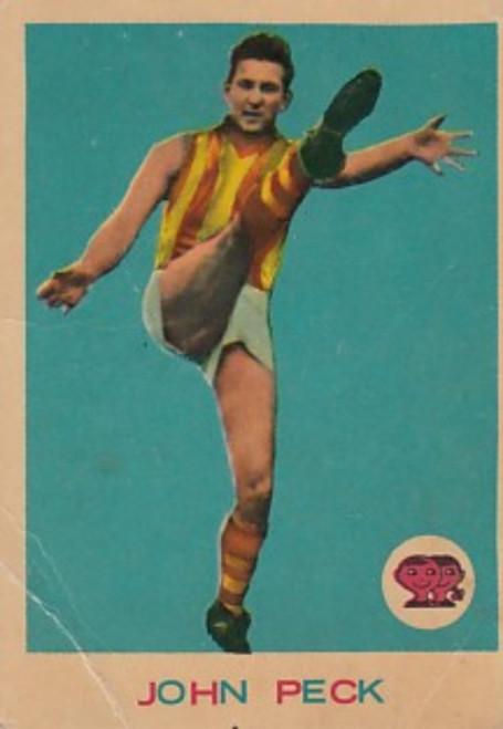 1964 VFL Scanlens #11 JOHN PECK Hawthorn Hawks Card
