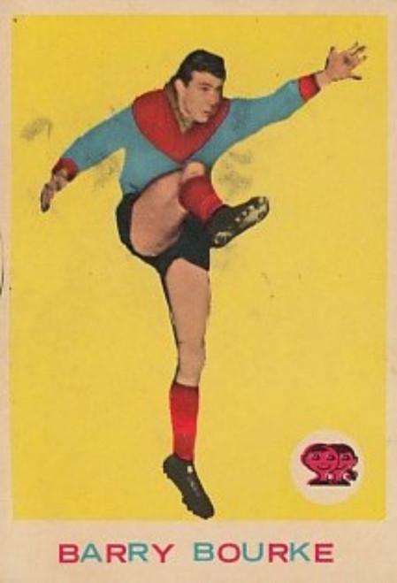 1964 VFL Scanlens #07 BARRY BOURKE Melbourne Demons Card