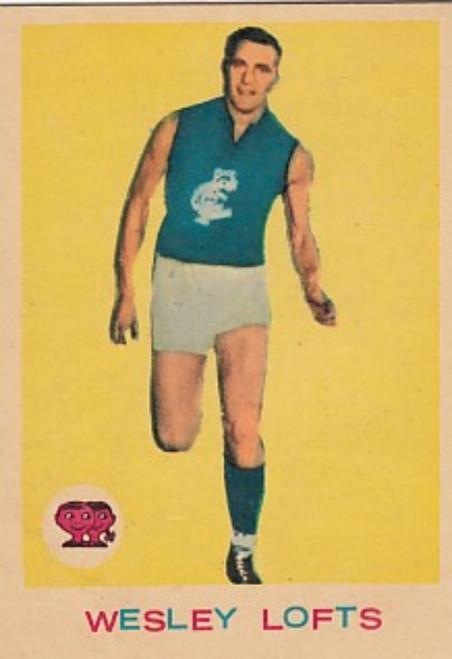 1964 VFL Scanlens #09 WES LOFTS Carlton Blues