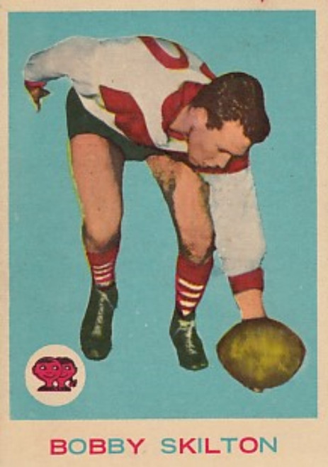 1964 VFL Scanlens #10 BOBBY SKILTON South Melbourne Swans Card