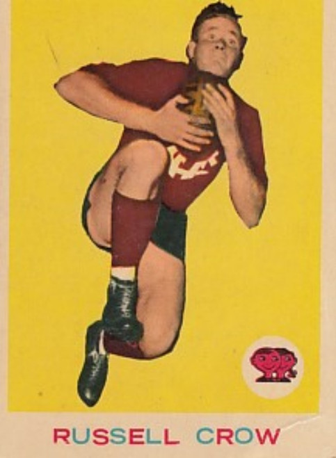 1964 VFL Scanlens #12 RUSSELL CROW Fitzroy Lions card
