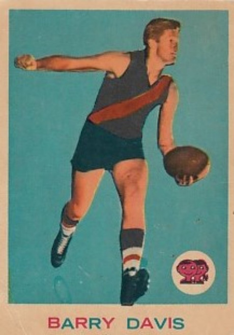 1964 VFL Scanlens #26 BARRY DAVIS Essendon Bombers card