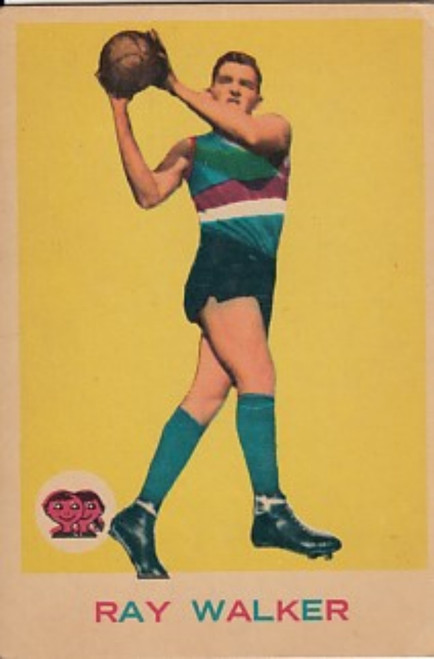 1964 VFL Scanlens #31 RAY WALKER Footscray Bulldogs Card