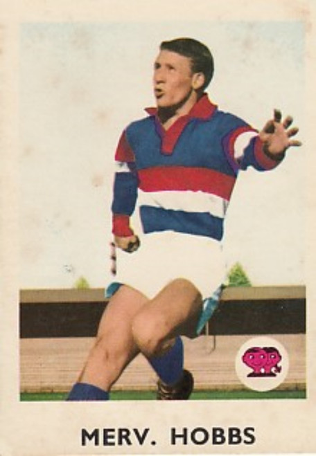 1965 VFL Scanlens #03 MERV HOBBS Footscray Bulldogs Card