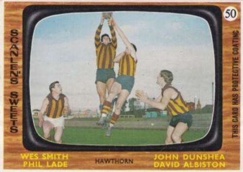1967 VFL Scanlens #50 HAWTHORN HAWKS Team Card