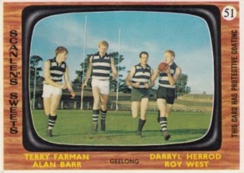 1967 VFL Scanlens #51 GEELONG CATS Team Card