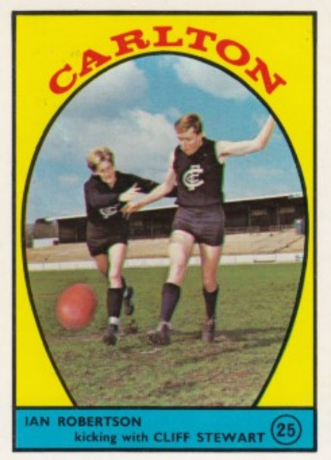 1968A VFL Scanlens #25 CARLTON BLUES Team Card