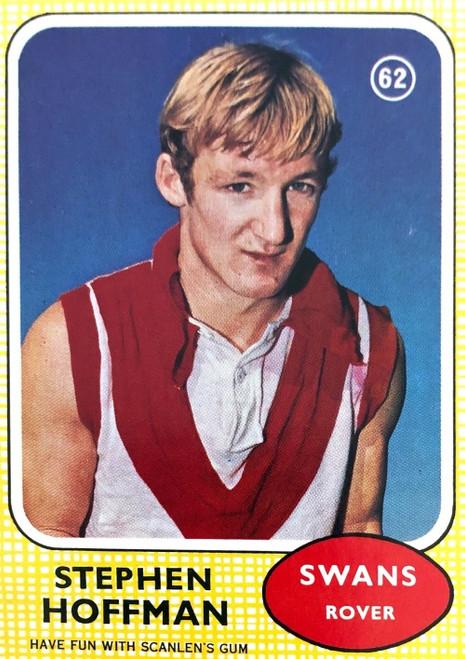 1970 VFL Scanlens #62 STEPHEN HOFFMAN South Melbourne Swans Card