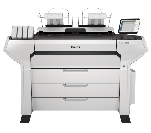 Oce Colorwave 3800 MFP.  Available in 2 roll, 4 roll,  or 6 roll.