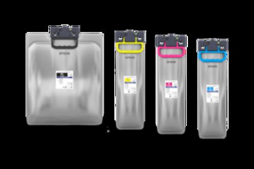 Epson Workforce C878R / C879R High Capacity Ink Tanks. Yield Black 86K, Color 50K.