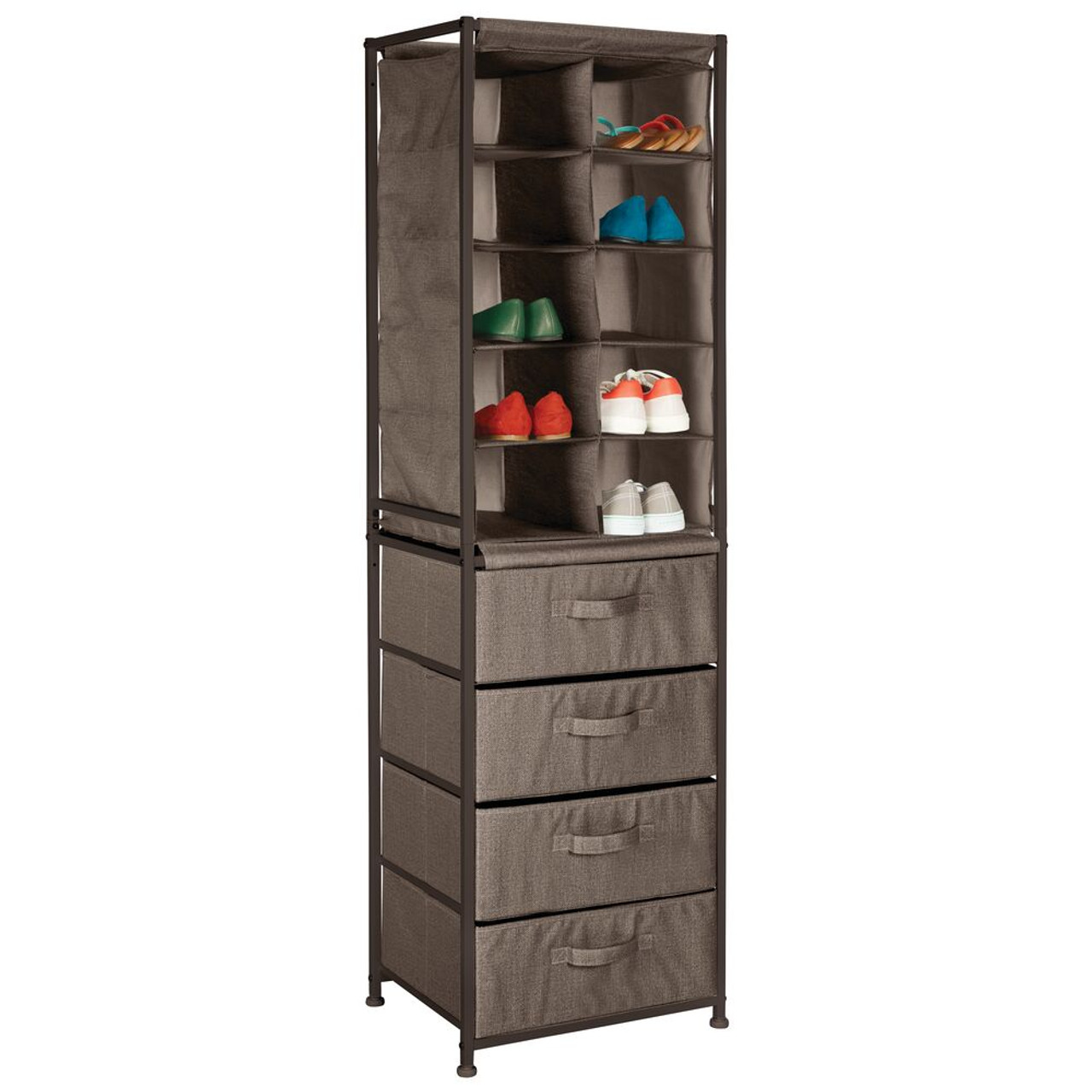 Kids Room Wall Mount Cubby Tray Cabinet Dresser Storage Basket for Clothes