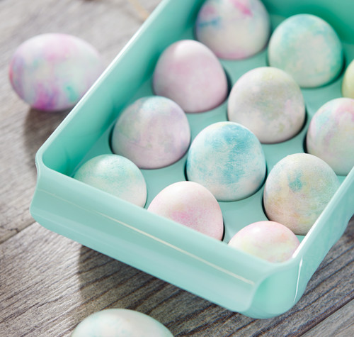 DIY Egg Dying with Shaving Cream