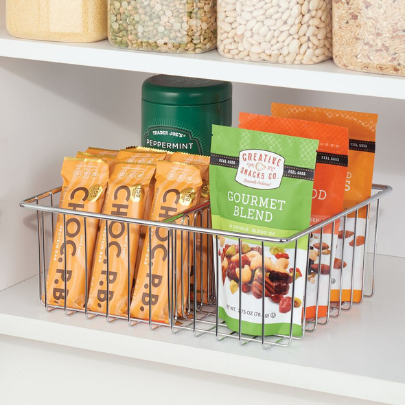 Farmhouse Metal Wire Kitchen Pantry Storage Basket