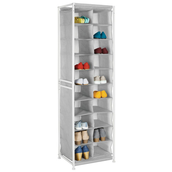 20 Compartment Vertical Fabric Shoe Rack Floor Stand