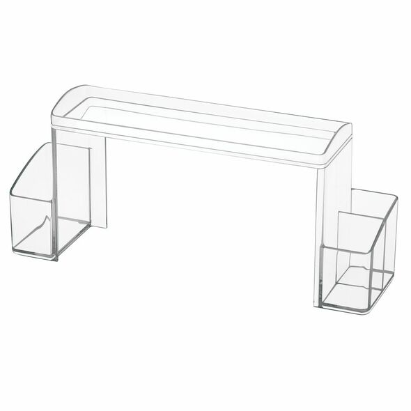 2 Tier Bathroom Cabinet Storage Organizer Shelf - Clear