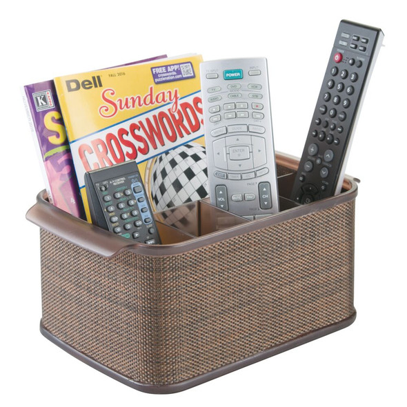 Plastic TV Remote Organizer with 5 Sections
