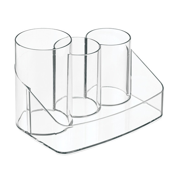 4 Section Clear Plastic Grooming Center for Bathroom Storage
