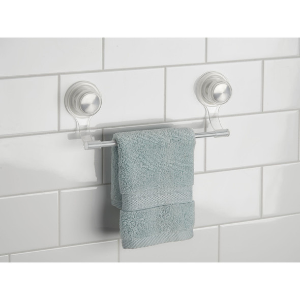 Wall Mount Suction Bathroom Shower Towel Bar - Pack of 2