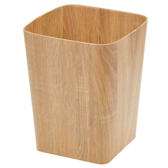 Square Wood Trash Can for Office