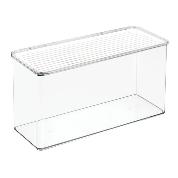 Tall Wide Plastic Desk Organizer Box Bin for Home Office - Pack of 2