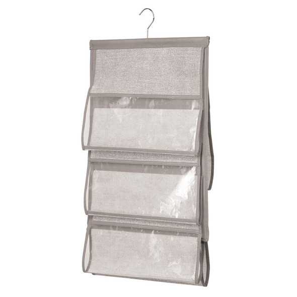 Over Door Hanging Fabric Closet Storage Organizer in Linen - Pack of 2
