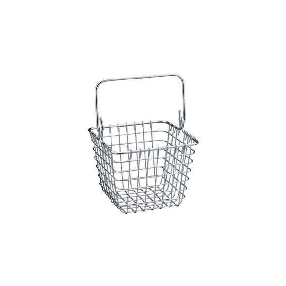 Tall Wire Storage Basket with Handles for Kitchen in Chrome - Pack of 2