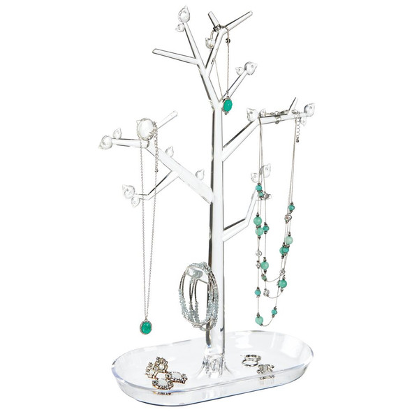 Acrylic Tree Stand and Tray for Jewelry Storage