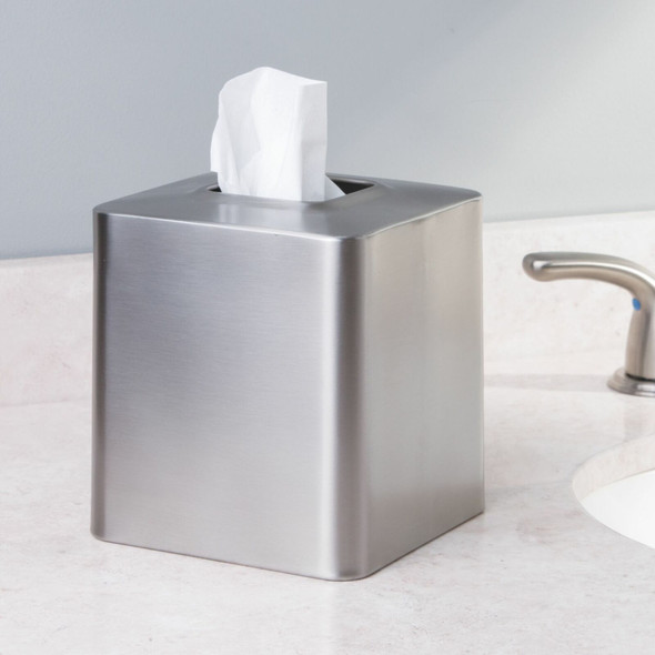 Metal Square Facial Tissue Box Cover Holder
