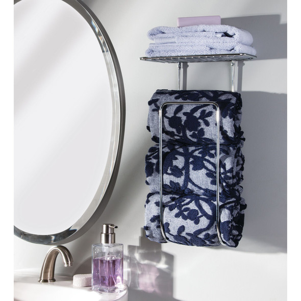 Wall Mount Bathroom Towel Holder Storage Rack, Shelf