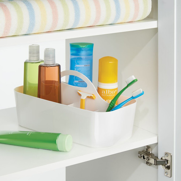 Large Plastic Bathroom Storage Caddy with Handle