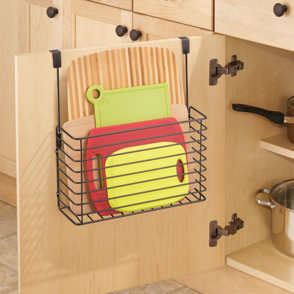 Hanging Metal Over Cabinet Door Kitchen Storage Basket