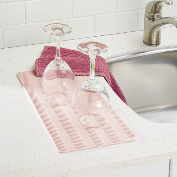 """Silicone Kitchen Counter Drying Mat Protector - 16"""" x 8"""""""